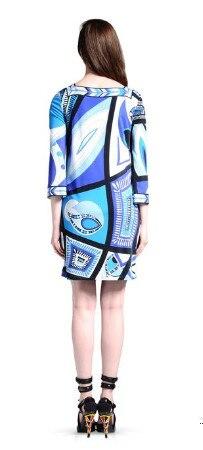 Soie Plus De Femmes Epucci 2018 Bleu À Luxe Des Nouveau Manches Marques Élastique La Jersey Avec Taille Robe Impression Ceintures Xxl Géométrie OxgqcH