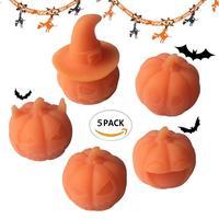 LeadingStar 5 pz Romanzo Halloween Squishy Bambola Zucca Ornamento Elastico Spremere Toy Natale Regalo Di Compleanno Dello Stress zk30