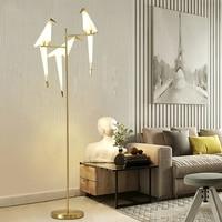 TZ современные птицы торшер Золотой абажур базы свет с светодиодный лампы металлической Lambader для Гостиная подставка чтение освещения