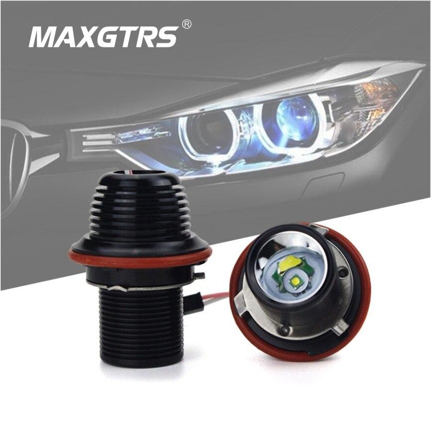 2x 10W Car LED CREE Chip Marker Angel Eye Halo Ring Aluminum Alloy Light Bulb For BMW E39 E53 E60 E63 E64 E66 E87 E83 hot sell for bmw e39 e64 e60 e66 e83 e87 angel eye halo bulb light 2 7w white cree led