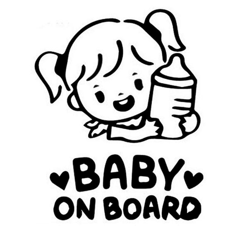 Baby On Board Little Lady On Board Decal Sticker