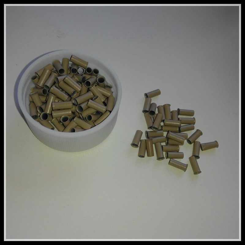5000 Unit I tip Rambut Manik-manik Berkobar Micro Tabung tembaga Hitam coklat Pirang EasilyLocks Micro Link mini kunci dari 2.8x2.3x7.0mm