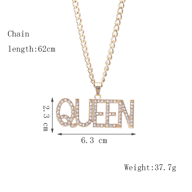 Хип-хоп ювелирные изделия Модные золотые длинные цепочки ожерелья для женщин и мужчин персонализированные буквы Орел молитвенный знак карта кулон ожерелье - Окраска металла: N161