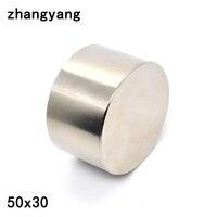 1pcs Neodymium Magnet 50x30 Mm Gallium Metal Super Strong Magnets 50 30 Round Neodimio Magnet Powerful