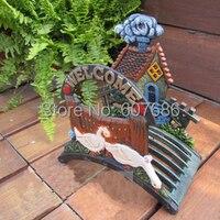 Duck Wall Mounted Hose Holder Cast Iron Hose Hanger Ornate Garden Home Decor Iron Crafts Free