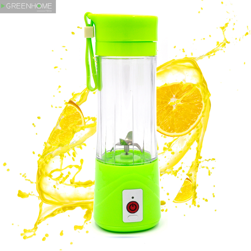 380ml USB Juicer Cup, Fruit Mixing Machine, Portable Personal Size Eletric Rechargeable Mixer, Blender for kitchen