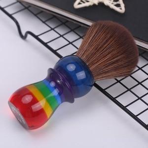 Image 2 - Yaqi 26 Mm Regenboog Bruin Synthetisch Haar Scheren Borstels