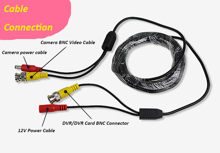 10m CCTV Cable video+power BNC+DC 30FT CCTV Camera Cable DVR Cable BNC Coaxial Cable security installations CCTV Accessory gakaki 5m cctv cable bnc connector male dc plug power supply adapter for cctv camera coaxial cable for cctv system dvr nvr