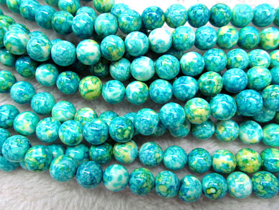 10strands 4 6 8 10 12mm wholesale howlite turquoise handmade sugar round ball mixed color jewelry beads10strands 4 6 8 10 12mm wholesale howlite turquoise handmade sugar round ball mixed color jewelry beads