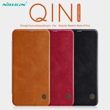 Xiaomi Redmi Nota 6 Pro Custodia In Pelle NILLKIN Qin Serie di Vibrazione Del Raccoglitore Caso Della Copertura Per La Nota Redmi 6 Pro Genuino caso di Cuoio di vibrazione