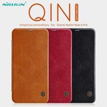 Xiaomi Redmi Note 6 Pro étui en cuir NILLKIN Qin série portefeuille étui à rabat pour Redmi Note 6 Pro véritable étui à rabat en cuir
