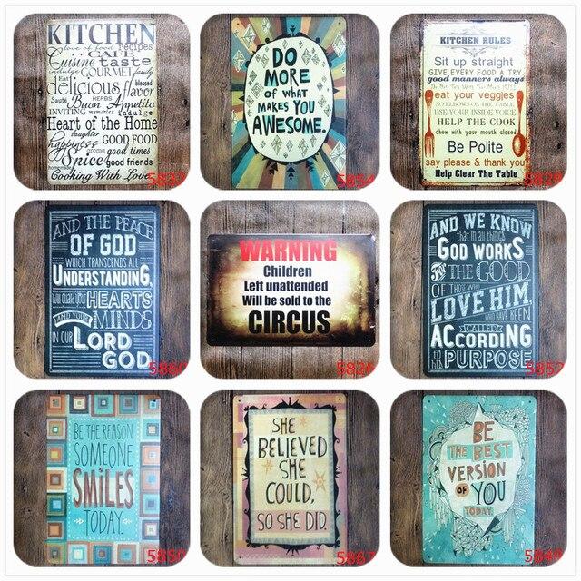 Reglas de La cocina signos de metal plaque bar pub club Wall Tavern ...
