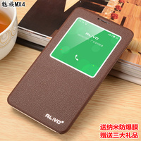2016 Top Quality New 7 Colors For Meizu MX4 Famous Brand Leather Flip Luxury Stand Phone
