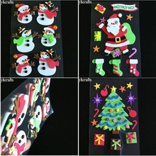 3D Fridge-Stickers Decoration Favor-Toys Craft Gifts Christmas-Tree Cute Santa-Snowman