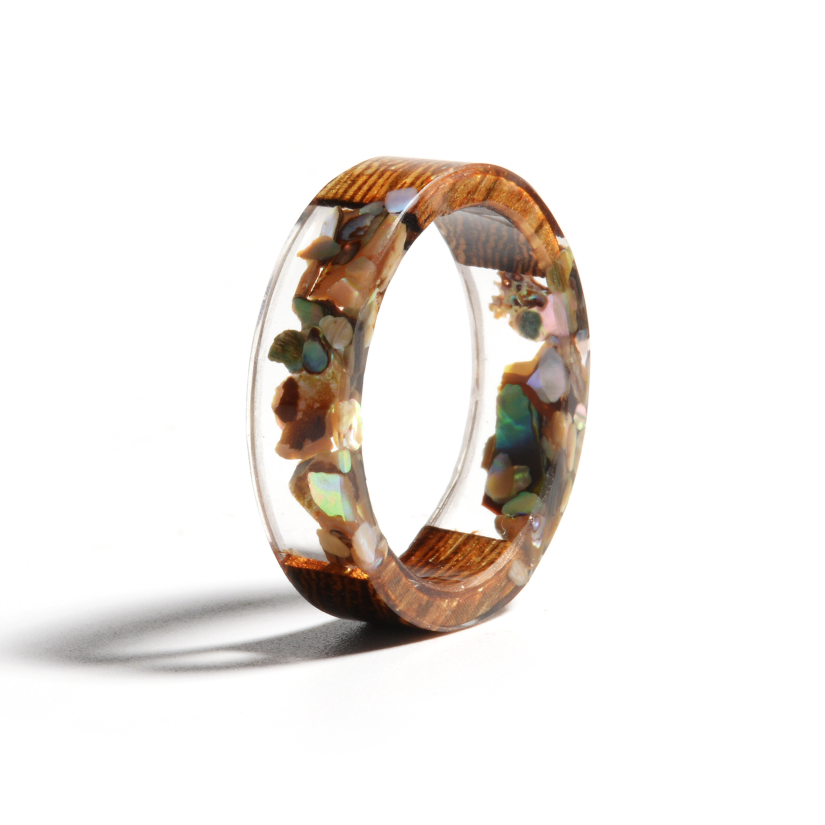 HTB1pvNYaoLrK1Rjy0Fjq6zYXFXaJ - Hot Sale Handmade Wood Resin Ring Dried Flowers Plants Inside Jewelry Resin Ring Transparent Anniversary Ring for Women