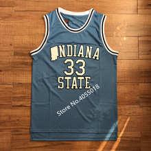 9c71b0af347 EFKGH R 33 Larry Bird Indiana State College Basketball Jersey Stitched S-2XL