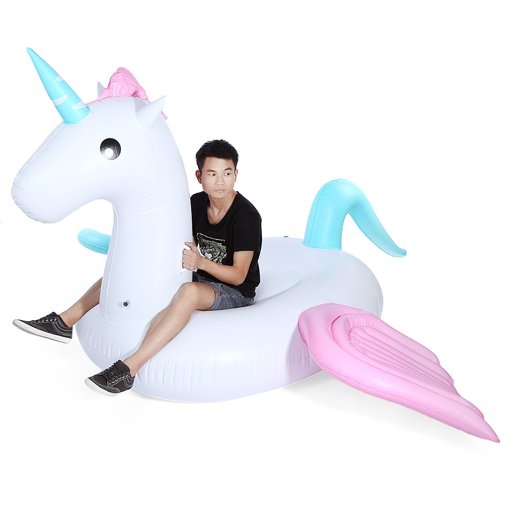 Swimming Water Lounge Pool Giant Rideable Pegasus Inflatable Float Toy Pools Water Funny Toy Pool Rafts Inflatable Ride-Ons Toys mymei white summer lake swimming water pool kids rideable swan inflatable float toy