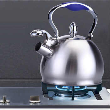 2.5L Edelstahl Pfeifen T Wasserkocher Kaffee T Topf Herde Induktion 2 Farben Dekoration