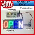 1 PCS SMD P10 módulo + 1 pcs cartão Async rgb + 1 pcs power/smd cor cheia conduziu o sinal de rolagem ao ar livre kits diy