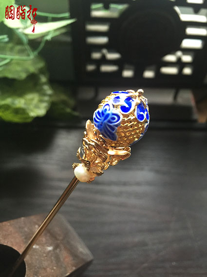 Cloisonne Hollow-out Ball Shape Copper Hair Stick no Tassel Vintage Chinese Handmade Hair Jewelry Hanfu Cos Hair Accessory pink crystal double layer classical hair stick vintage hair accessory hair stick hanfu hair accessory