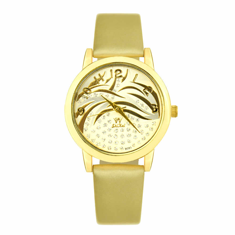 2019 mode femmes montres nouveau luxe dames montre en cuir bande montre-bracelet Quartz chaud Relojes mujer cadeau robe de haute qualité AA5