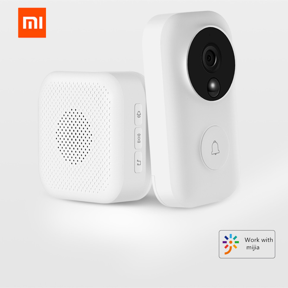 Xiaomi Zero AI identificación de la cara 720 P IR visión nocturna Video timbre Set detección de movimiento SMS Push Intercom nube libre de almacenamiento de - 4