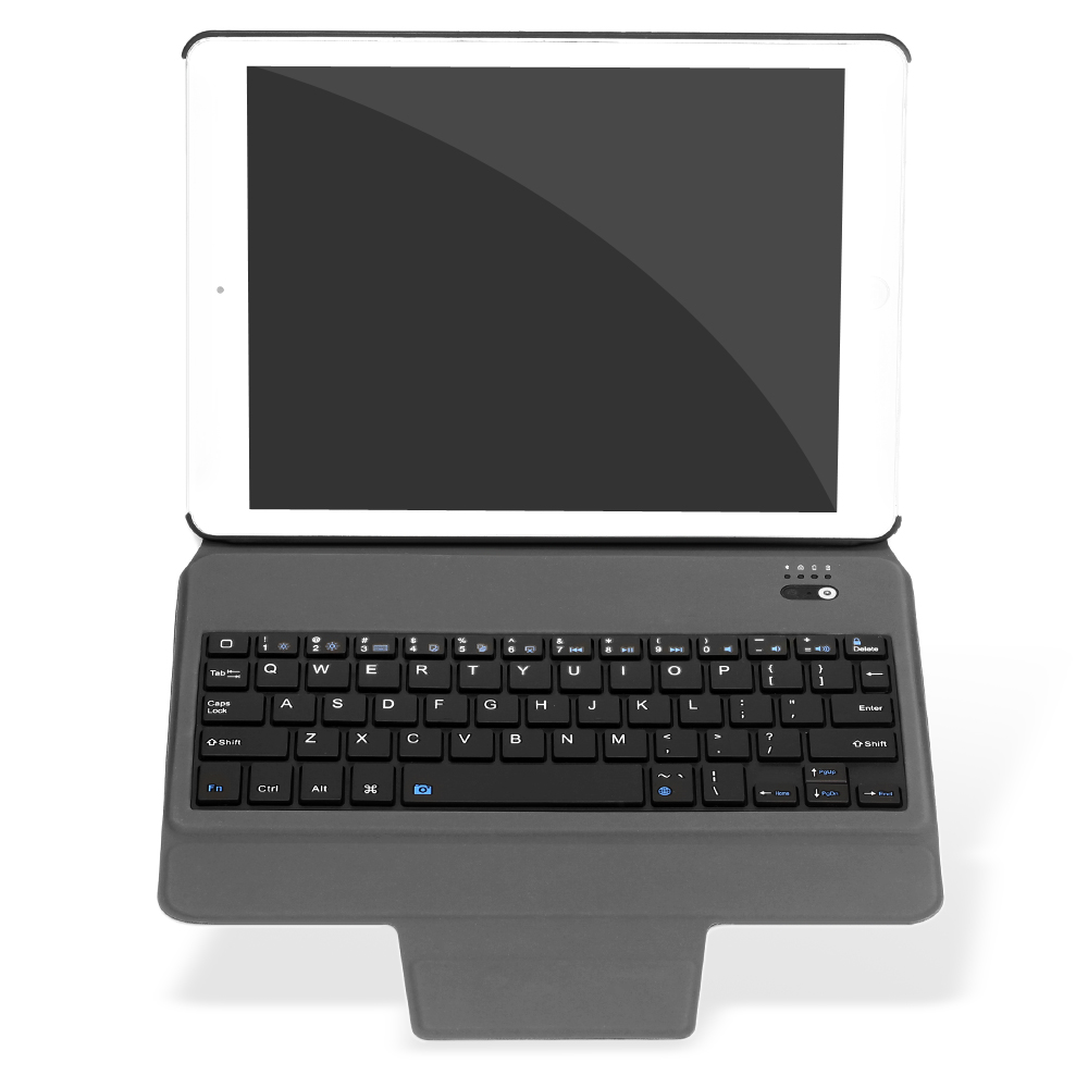 Kemile Ultra Slim Bluetooth Keyboard With Stand Leather Case Cover Tablet Keypad Klavye For IPad