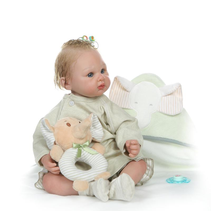 Reborn Silicone Lifelike Baby Doll 55cm Real touch Play baby doll Vinyl Newborn Boutique bedtime  toddler birthday gift dollReborn Silicone Lifelike Baby Doll 55cm Real touch Play baby doll Vinyl Newborn Boutique bedtime  toddler birthday gift doll