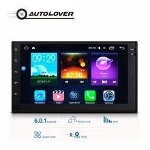7033 6.0.1 Android Radio de Coche 2din 7 pulgadas de Navegación GPS WiFi Apoyo Función FM AM RDS Reproductor Multimedia Subwoofer salida
