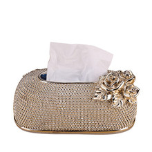 European luxury style tissue box ornaments creative cute living room coffee table decorations modern simple home pumping