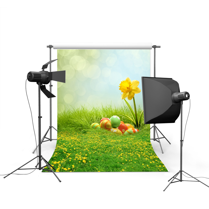1.5MX2.2M Easter theme photography backdrops printed with colorized eggs for newborn kids spring photos GE-058