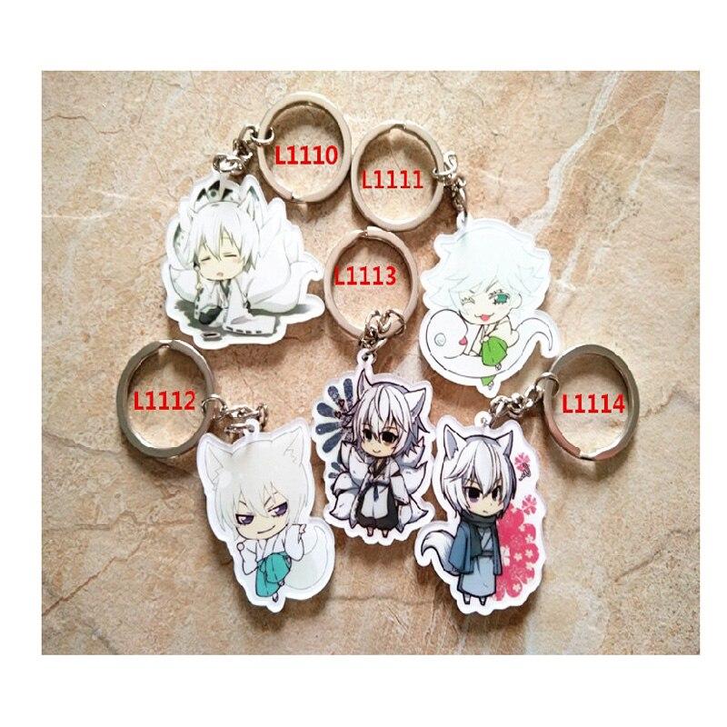 5pcs/set Anime Keychain Kamisama Love Kiss Momozono Nanami Tomoe mi zi ki Sweety Girl LOve Keychain Keyring pendant
