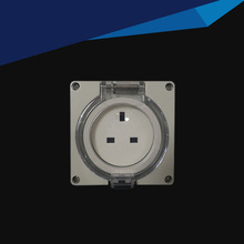 IP66 Waterproof Dust-Proof Outdoor Wall Power Socket, 13A UK Standard Electrical Outlet  Industrial Socket