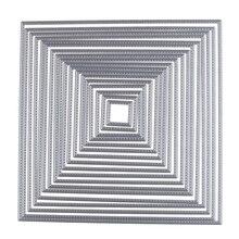 195*195 мм Настройка в большой квадратной оправе резки умирают металла Скрапбукинг тиснение трафарет ремесло для самодельная открытка альбом фото Декор