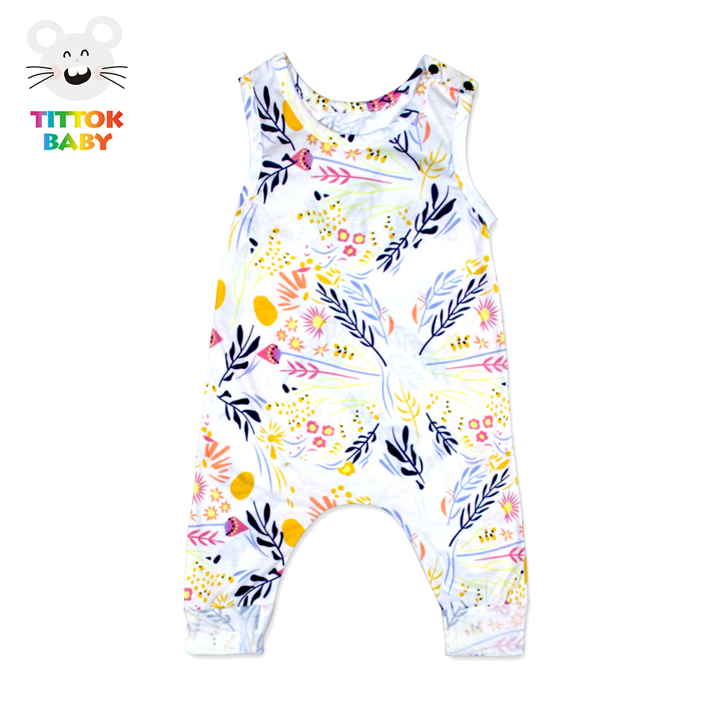 Cute Flora Rompers Sleeveless Baby Girl Jumpsuits Cotton Summer 2017 Newborn Baby Clothes Infant Clothing Baby Girl Romper newborn baby rompers baby clothing 100% cotton infant jumpsuit ropa bebe long sleeve girl boys rompers costumes baby romper