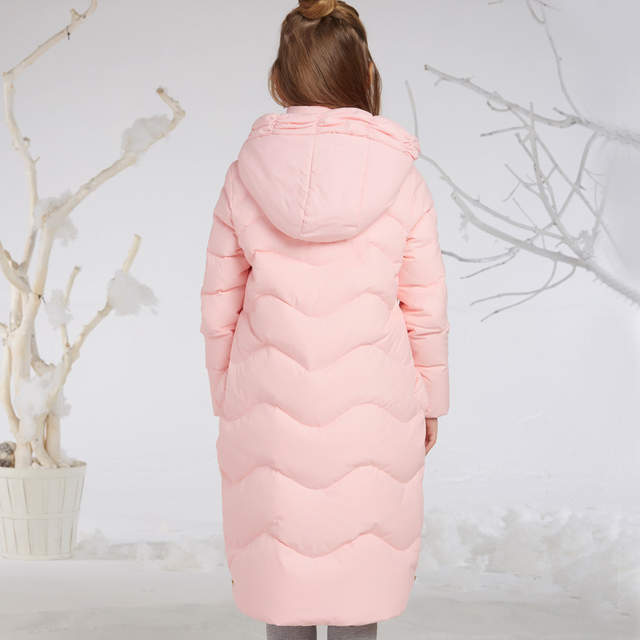5c392bb83625 placeholder Sweet Pink Winter Jackets for Little Girl X-long Warm Teenage  Girls Outwear 80%