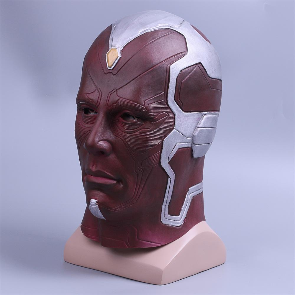 Cosplay Marvel Vision Mask Superhero Mask Full Head Halloween Helmet Latex New (5)