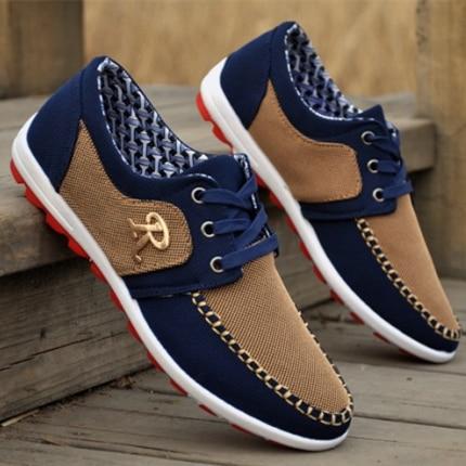 2d0b0a9b236 Nueva marca de verano Zapatos de lona casuales zapatos planos de los hombres  zapatos tenis de los hombres cómodos zapatos del barco de correlación 2016  ...
