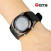 OTS Fashion Creative Large Number Style Men S Sport Watches For Men Waterproof Alarm Clock Led