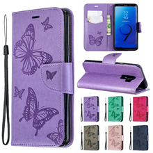 Flap Cover Wallet For Samsung Galaxy S9 Case Deluxe Faux Leather for Plus