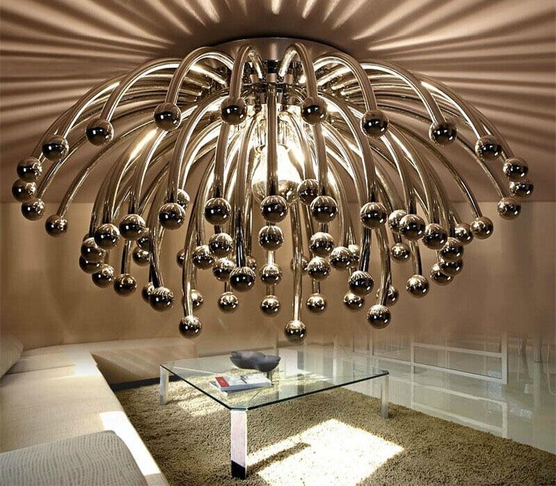 Criativo Lustre lustres de teto D42 D60 Lustres de Teto Escada de Luz LED Embutida No Tecto Luz do Candelabro Lustres de teto