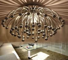 Creative Chandelier lustres de teto D42 D60 Ceiling Chandeliers Stair Light LED Flush Lustres
