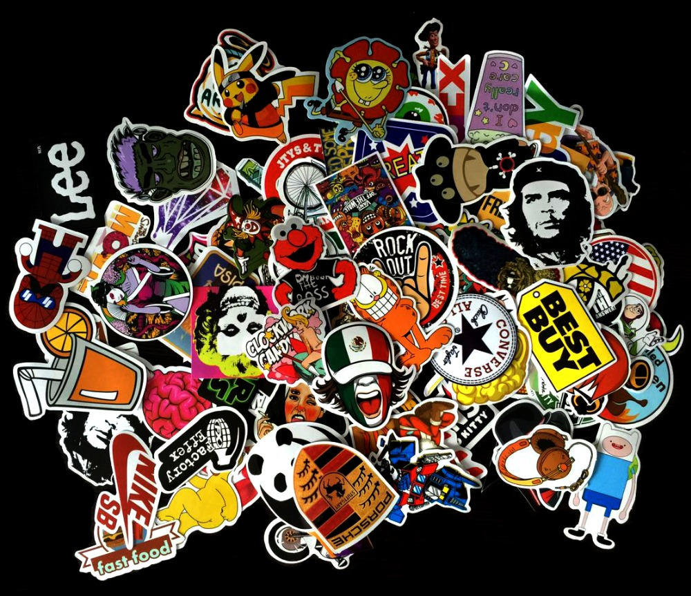 Vinyl Sticker w/ Graffiti Pattern Waterproof for Car & Laptop ...