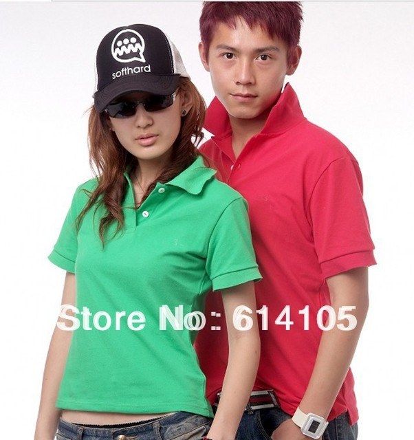 Plus size Unisex Couple Tops Polo New 2014 shirt men polo 100%cotton brand polo shirt