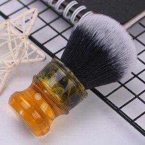 Image 3 - Yaqi 24MM Sagrada Familia Đen/Trắng Tuxedo Tổng Hợp Sợi Nhựa Tay Cầm Nam Ướt Cạo Lông Bàn Chải