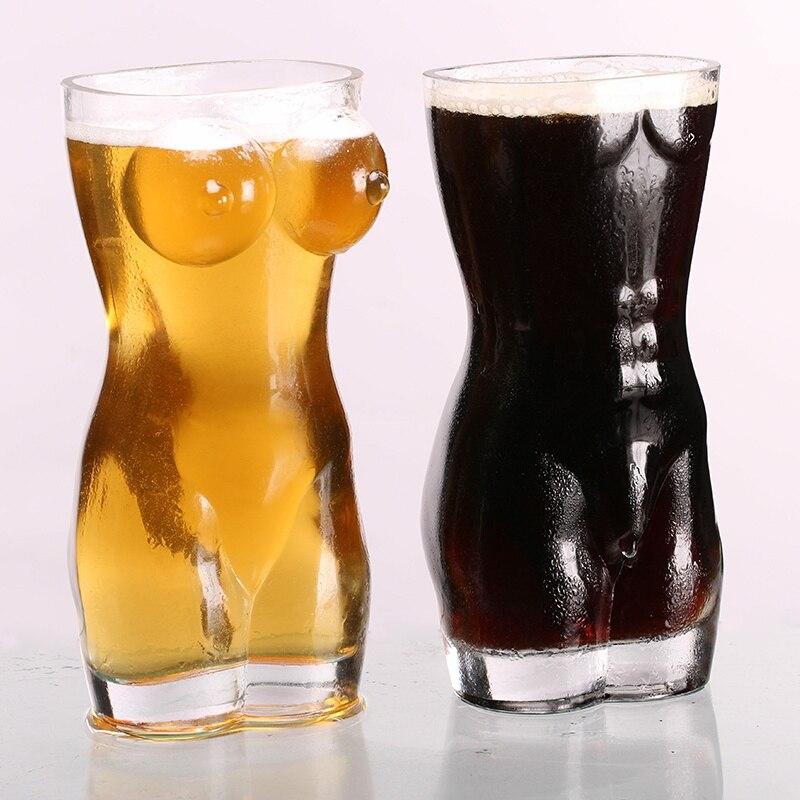 2 PCS Sexy Lady Hommes Durable À Double Paroi Verres à Whisky Vin Verre à Liqueur Grosse Poitrine Bière Tasse 700 ml