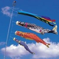 5 COLORI 150 cm Koinobori Giapponese Carpa streamer Calze Vento Koi nobori Pesce Bandiere Aquilone Bandiera Giapponese koinobori per I Bambini Giorno