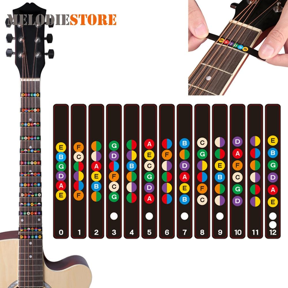 5pcs Waterproof Universal Guitar Fretboard Stickers Notes Labels