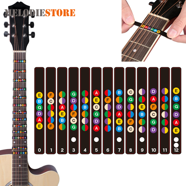 5pcs! Waterproof Universal Guitar Fretboard Stickers Notes Labels ...