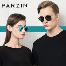 PARZIN TR90 Sunglasses Polarized Unisex Couple Style Round C